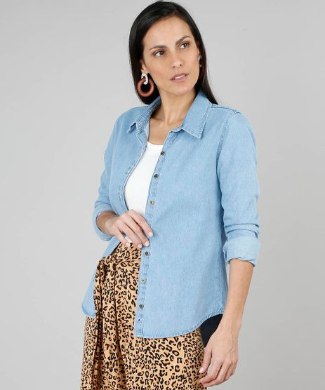 Camisa-Jeans-Feminina-Manga-Longa-Azul-Claro-9536742-Azul_Claro_1