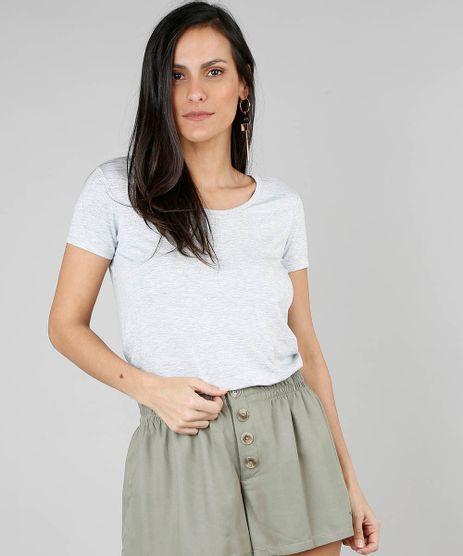 Blusa-Feminina-Basica-Decote-Redondo-Manga-Curta-Cinza-Mescla-Claro-9551019-Cinza_Mescla_Claro_1