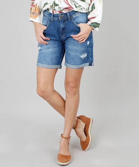 Short-Jeans-Feminino-Midi-Destroyed-Azul-Escuro-9536756-Azul_Escuro_1