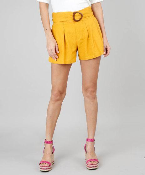 Short-Feminino-Clochard-Amarelo-9521125-Amarelo_1