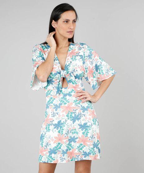 Vestido-Feminino-Estampado-Floral-com-No-Manga-Curta-Off-White-9505222-Off_White_1
