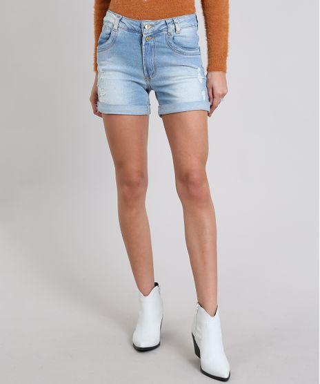 Short-Jeans-Feminino-Boyfriend-Destroyed-Azul-Claro-9408613-Azul_Claro_1