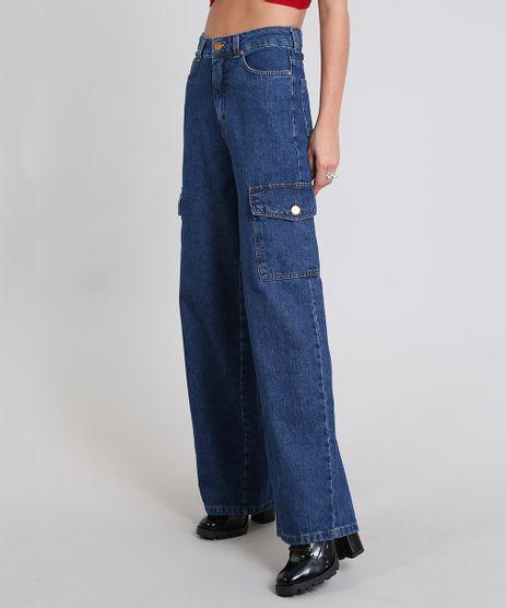 Calca-Jeans-Feminina-Pantalona-Cargo-Azul-Escuro-9536736-Azul_Escuro_1