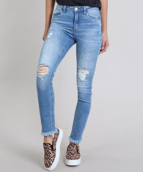 Calca-Jeans-Feminina-Skinny-Destroyed--Azul-Claro-9570312-Azul_Claro_1