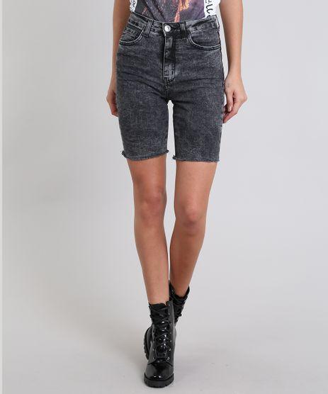 Bermuda-Jeans-Feminina-Ciclista-Preta-9536739-Preto_1