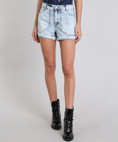 Short-Jeans-Feminino-Vintage-Com-Barra-Dobrada-Azul-Claro-9537687-Azul_Claro_1