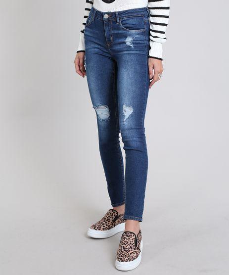 Calca-Jeans-Feminina-Skinny-Destroyed--Azul-Escuro-9570305-Azul_Escuro_1
