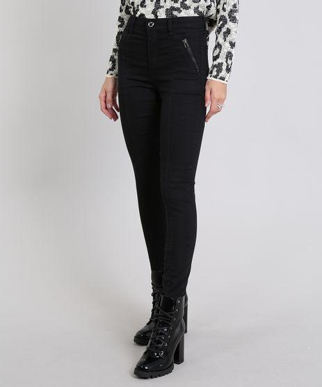 Calca-Jeans-Feminina-Skinny-Com-Ziper-Preta-9543139-Preto_1