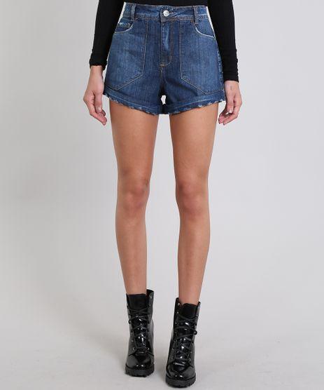 Short-Jeans-Feminino-Vintage-Com-Barra-Dobrada-Azul-Medio-9537688-Azul_Medio_1