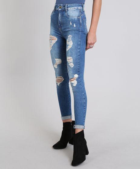 Calca-Jeans-Feminina-Super-Skinny-Sawary-Destroyed--Azul-Medio-9581052-Azul_Medio_1