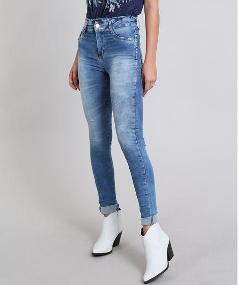 c52a64275a Calça Jeans Feminina Super Skinny Sawary Azul Médio - cea