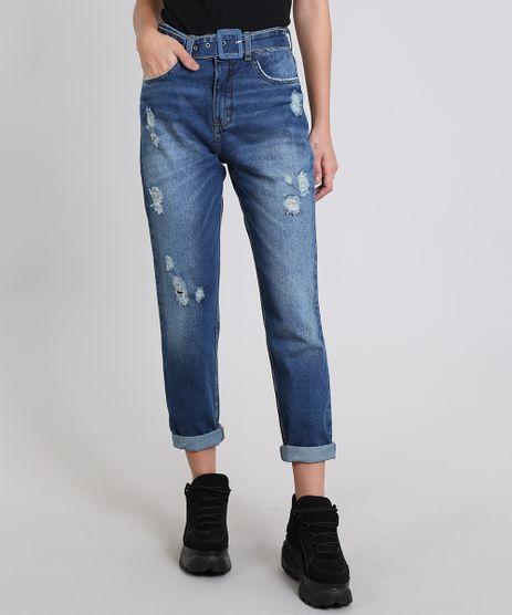 Calca-Jeans-Feminina-Skinny-Destroyed--Azul-Escuro-9536734-Azul_Escuro_1