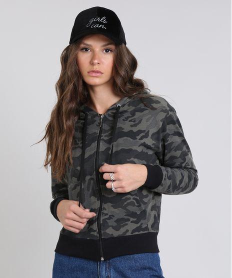Blusao-Feminino-em-Moletom-Estampado-Camuflagem-com-Capuz-Verde-Militar-9546570-Verde_Militar_1