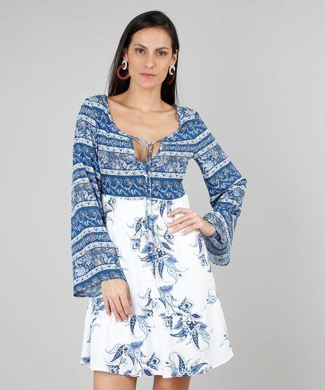 Vestido-Feminino-Estampado-Floral-com-Tassel-Manga-Longa-Sino-Azul-9506577-Azul_1
