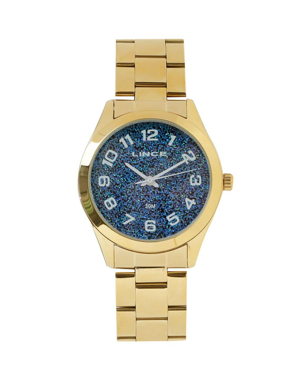 fbdf09f6215 Relógio Analógico Lince Feminino - LRG4373L-D2KX Dourado - cea