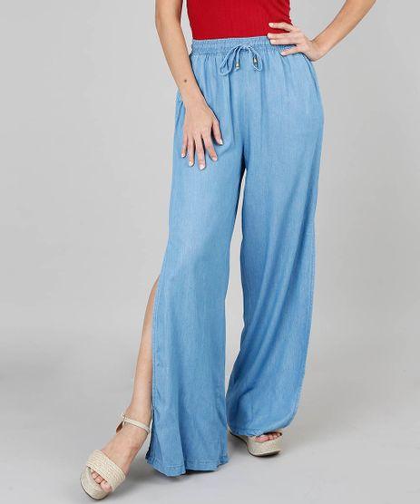 Calca-Jeans-Feminina-Pantalona-Com-Fenda-Azul-Claro-9551585-Azul_Claro_1
