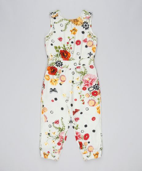 Macacao-Longo-Infantil-Estampado-Floral-Bege-9557784-Bege_1