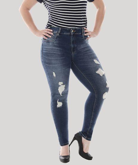 8341e2ad3 Calca-Jeans-Feminina-Cigarrete-com-Rasgos-Plus-Size-