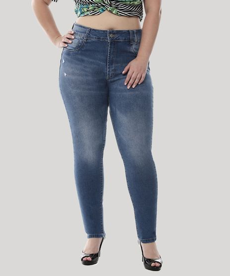 Calca-Jeans-Feminina-Cigarrete-com-Puidos-Plus-Size--Azul-Medio-9582671-Azul_Medio_1