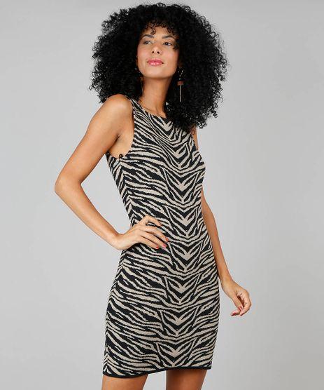Vestido-Feminino-Justo-Com-Jacquard-Bege-9512692-Bege_1