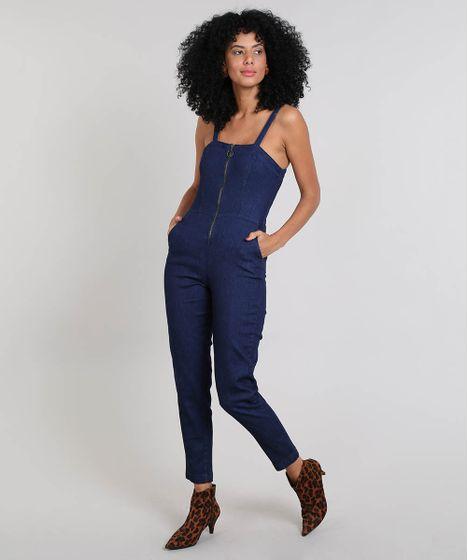 8312078d92 Macacao-Jeans-Feminino-com-Bolsos-Azul-Medio-9549038- ...