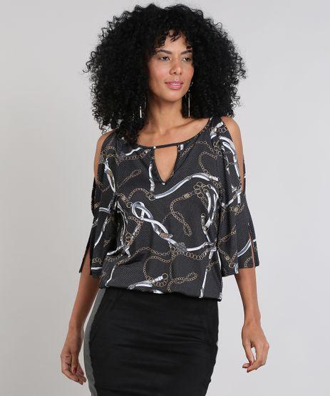Blusa-Feminina-Open-Shoulder-Estampada-Corrente--Preta-9488164-Preto_1
