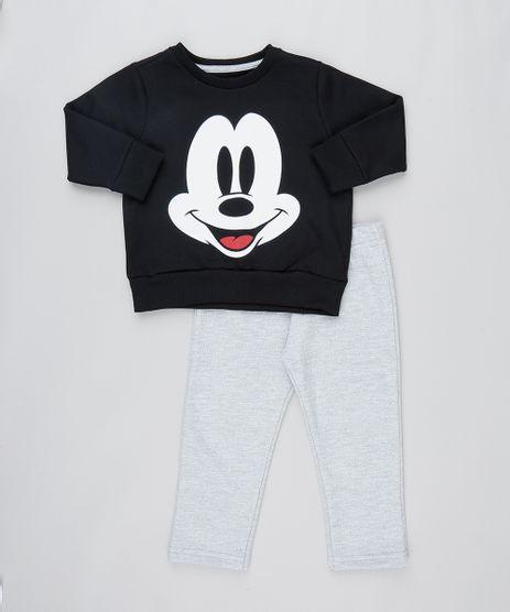 Conjunto-Infantil-Mickey-Mouse-de-Blusao-em-Moletom---Calca--Preto-8331097-Preto_1