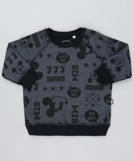 Blusao-Infantil-Mickey-Mouse-Raglan-em-Moletom--Cinza-Mescla-Escuro-9528484-Cinza_Mescla_Escuro_1