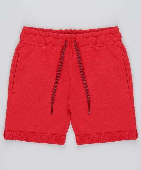 Bermuda-Infantil-com-Bolsos-em-Moletom--Vermelho-9548922-Vermelho_1