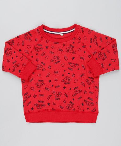 Blusao-Infantil-Estampado-de-Carro-Raglan-em-Moletom-Vermelho-9528487-Vermelho_1