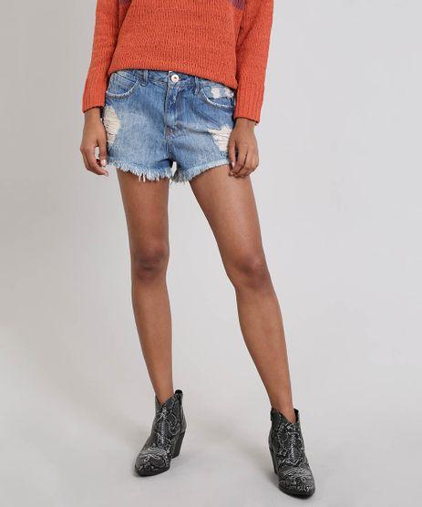 Short-Jeans-Feminino-Relax-Destroyed-Azul-9543256-Azul_1
