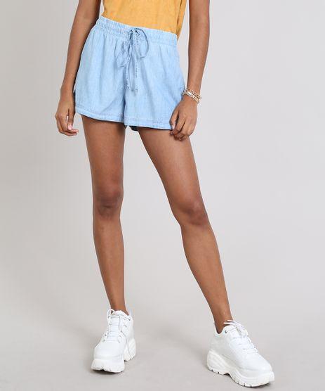 Short-Jeans-Feminino-Running-Com-Amarracao-Azul-Claro-9536737-Azul_Claro_1