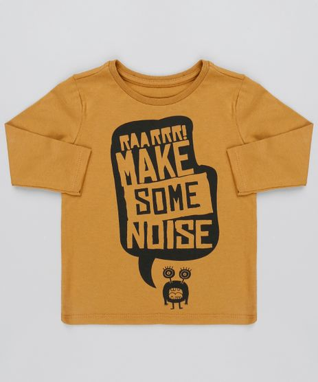 Camiseta-Infantil--Make-some-noise--Manga-Curta-Caramelo-9493444-Caramelo_1