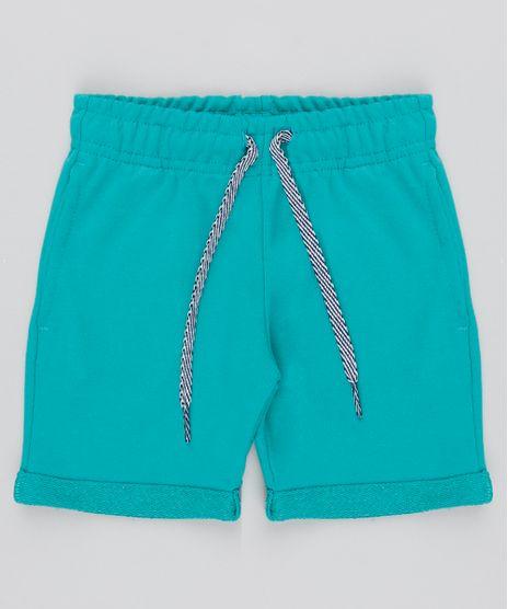Bermuda-Infantil-com-Bolsos-em-Moletom--Verde-9548922-Verde_1