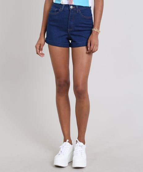 Short-Jeans-Feminino-Hot-Pants-Barra-Dobrada-Azul-9557198-Azul_1