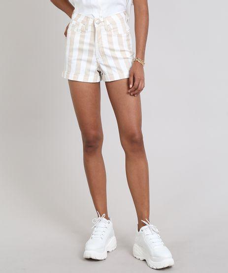 Short-Sarja-Feminino-Hot-Pants-Listrado-Bege-9557201-Bege_1