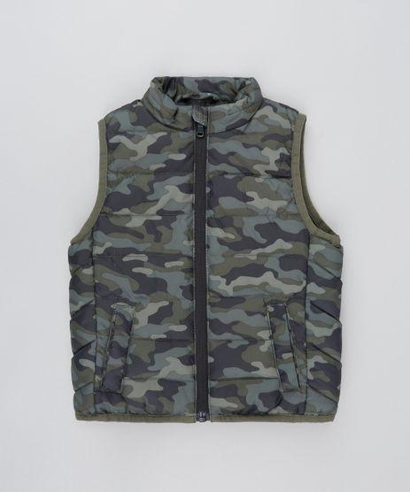 Colete-Infantil-Puffer-Com-Fechamento-em-Ziper-Verde-Militar-9363948-Verde_Militar_1
