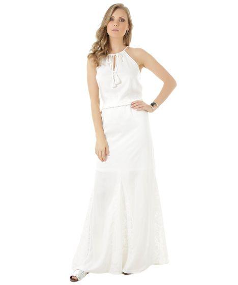 d1a06f089c3c Vestido-Longo-com-Renda-Off-White-8375003-Off_White_1 ...