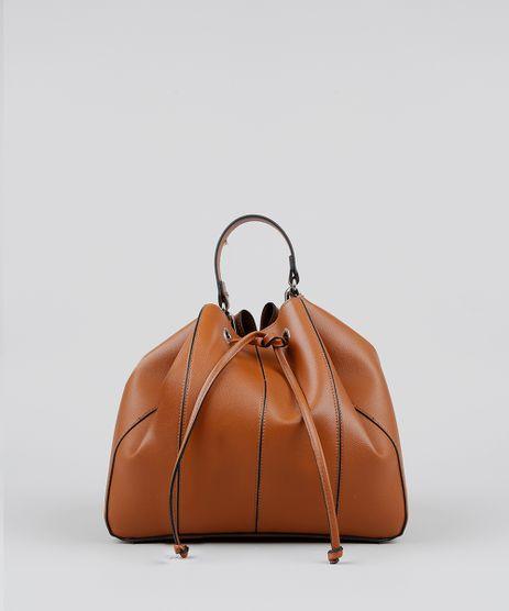 3d65770bc Bolsa-Bucket-Feminina-Grande-Com-Alca-Transversal--Caramelo