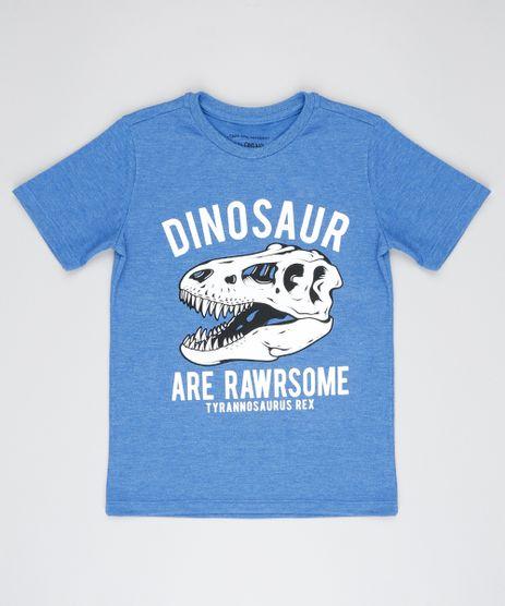 Camiseta-Infantil-com-Estampa--Dinosaur--Manga-Curta-Azul-9493005-Azul_1
