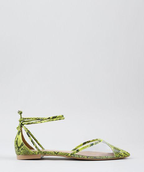Sapatilha-Feminina-Estampada-Animal-Print-Bico-Fino-Verde-Neon-9568625-Verde_Neon_1