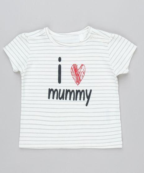Blusa-Infantil--I-Love-Mummy--Estampada-Listrada-Manga-Curta-Off-White-9545650-Off_White_1