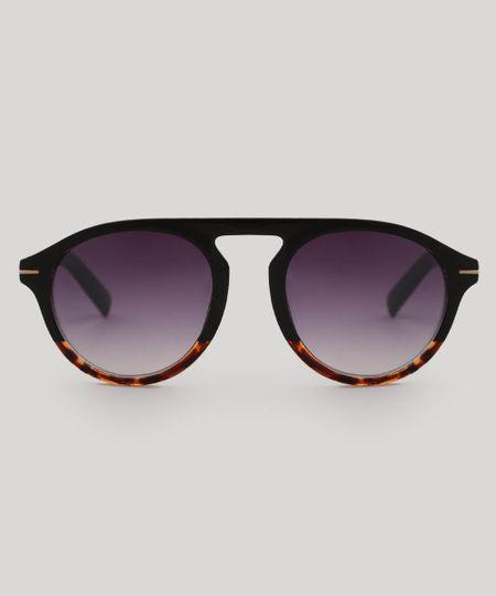 435192571 Menor preço em Óculos de Sol Redondo Feminino oneself Tartaruga Marrom -  Único