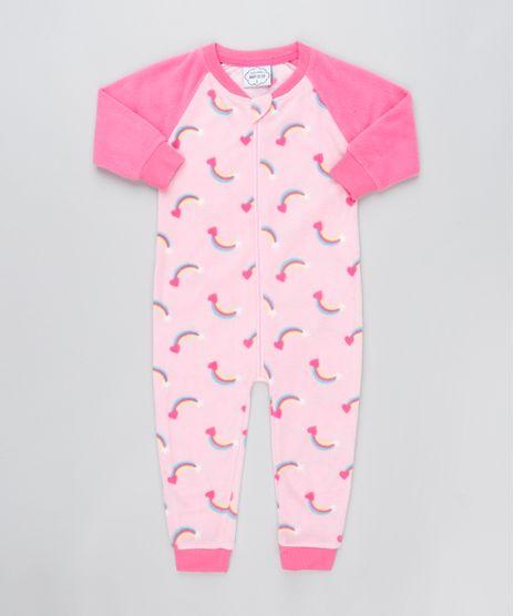 Macacao-Infantil-Estampado-de-Arco-Iris-com-Ziper-em-Plush-Rosa-Claro-9364247-Rosa_Claro_1