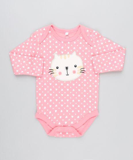 Body-Infantil-Gatinho-Estampado-de-Coracao-Manga-Longa-e-Decote-Redondo-Rosa-9188422-Rosa_1