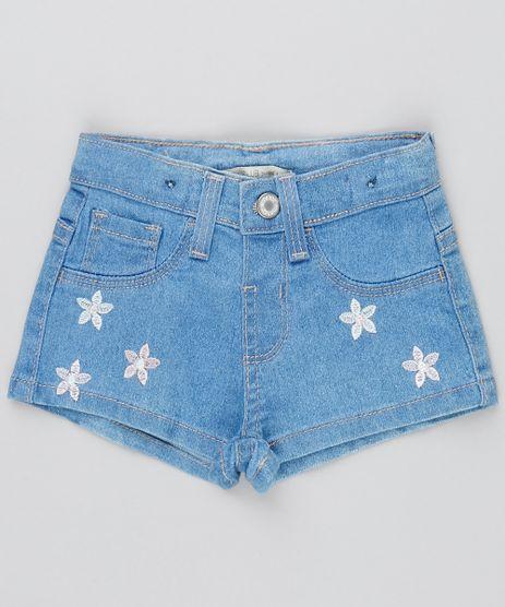 Short-Jeans-Infantil-com-Bordado-de-Flores-Azul-Medio-9419200-Azul_Medio_1