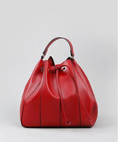 45dda9066 Bolsa Bucket Feminina Grande Com Alça Transversal Vermelha - cea