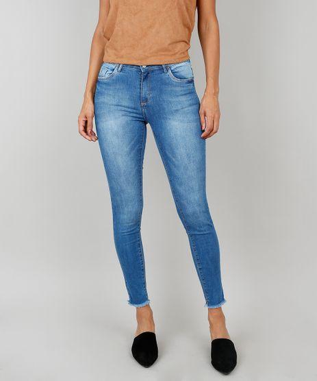 Calca-Jeans-Feminina-Super-Skinny-Com-Barra-Fio-Azul-9537869-Azul_1