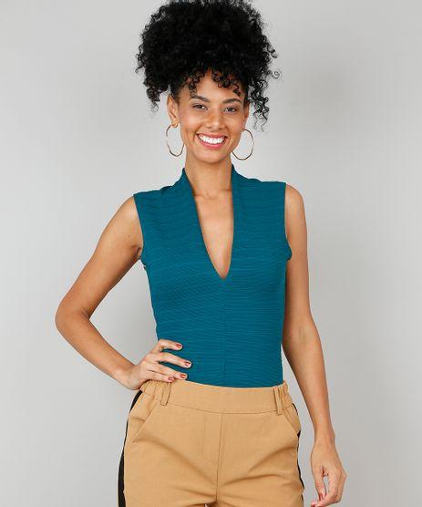 Body-Feminino-Texturizado-Decote-V-Verde-9563696-Verde_1