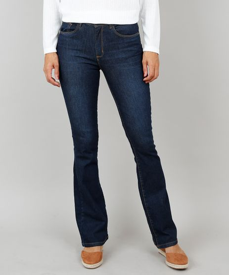 cbbd2203e9 Calca-Jeans-Feminina-Boot-Cut-Cintura-Media-Azul-